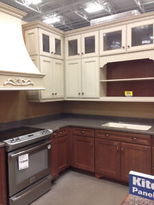 CABINETS, CORIAN COUNTER, SINK, RANGE HOOD & HARDWARE (PAID $40k London Ontario image 4
