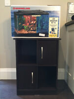 10 Gallon Fish Tank Aquarium Like New with Stand and extras