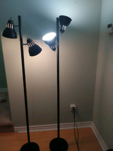 Floor lamps $20 each or both for $30