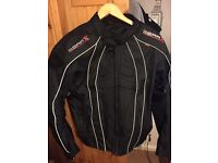 Medium size padded motorcycle jacket