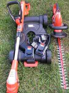 Battery powered weedeater and hedge trimmer London Ontario image 1