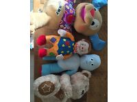 4 Teddies - Iggle Piggle, Laugh and Learn Puppy, My First Talking Ted and Talking Mr Tumble