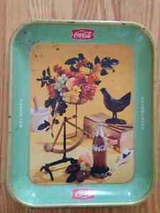 1957 Rooster Coca Cola Coke Tray