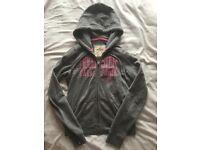 Hollister grey zip hoodie - women's size small