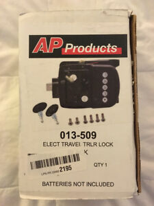 AP Products Black Electric Travel Trailer Lock 013-509