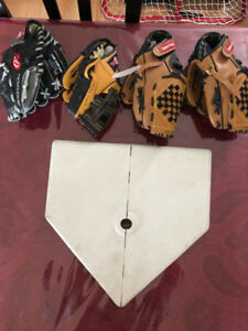 T-Ball stand and gloves