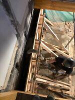 Coffrage de béton / Entrée de sous-sol / Tranchée et dalle béton