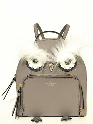 NWT Kate Spade Star Bright Owl Tomi Leather Backpack Bag Cityscape WKRU5674