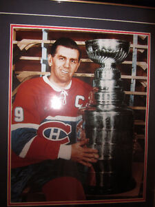 AUTOGRAPHED ROCKET RICHARD WITH STANLEY CUP $350