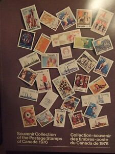 CANADA SOUVENIR COLLECTION STAMPS YEAR 1976