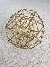 Gold geometric ball ornament