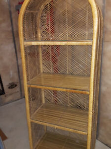 Pier 1 Wicker Shelf Unit