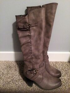 Taupe Boots - Worn twice!