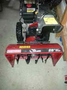 "$1200 obo Craftsman 28""  electric start 357 cc snowblower Strathcona County Edmonton Area image 1"