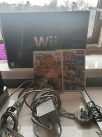 Nintendo wii with games and control