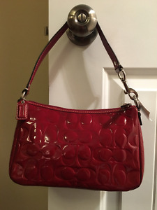 Coach Bag Red Patent Leather...New