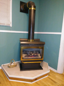Propane fireplace and hearth for sale
