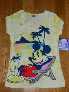 New Girls Disney Shirt  & Pink Top and Jeans Short 3 piece set