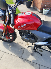 Keeway 125 hardly used. First MOT duee May 2021.