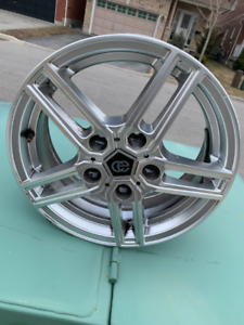 "SET OF 4 RIMS AND WINTER TIRES (ALLOY) 15"" 5X12 BOLT PATERN"