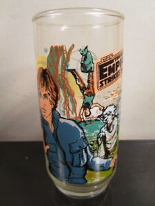 VINTAGE 1980 STAR WARS BURGER KING EMPIRE STRIKES BACK ESB GLASS