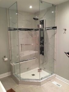 10mm Tempered Glass Shower Door & Stairs & Mirrors