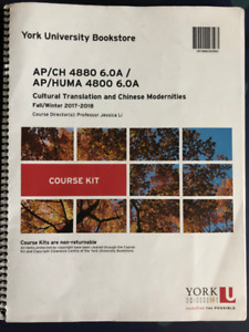 York University CH4880/HUMA4800 course kit