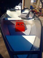 15 ft solid welded aluminum boat fishing package