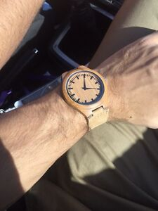 Bamboo watches with Leather strap