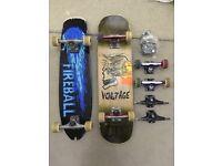 Voltage Pro Skateboard + Fireball Short Mini Longboard + EXTRAS