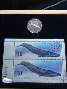 2010 Canadian coin and stamp set.