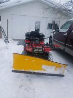 Yard plowing