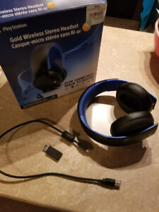 ps4 gold wireless stero headset