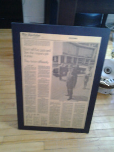 VINTAGE OFFICE SPECTOR NEWSPAPER MAYOR VIC KENNEDY COPPS 64X44CM