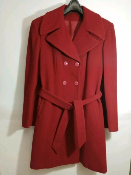 Exclusive WOOL and CASHMERE Winter Coat (size 10) - Bright Red