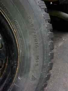 "4 Ford Ranger tires 2-15"" A/S with rims, 2-16"" winter tires only"