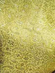 Beautiful Silk Fabric with Gold Thread Weave