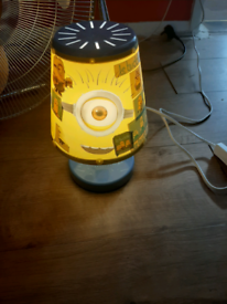 Lamp has got stickers on it