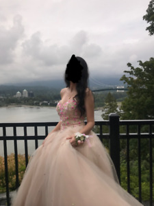 Ballgown Style Prom Dress - Great Condition