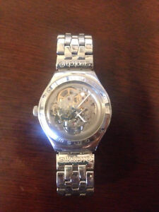 Swatch Irony Skeleton Autocatic Watch Stainless Steel Swiss Made