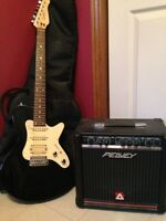 Godin Electric Guitar and Peavey Rage 158/Blazer Amplifier