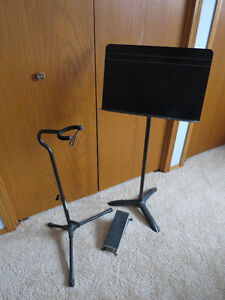 Guitar stand, Music stand and Foot rest