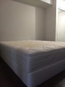 mattress and mattress base (queen) (IKEA)