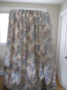 Custom Made Drapes AS NEW - Pastel Colours-