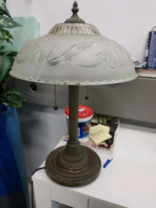 Quality, heavy table lamp