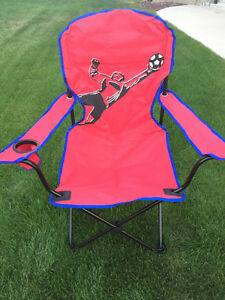 Red Soccer Folding Lawn Chair