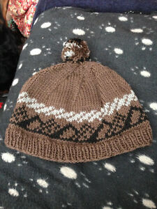 Hand knitted mens Touques