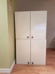 2 armoires en mélanime blanche