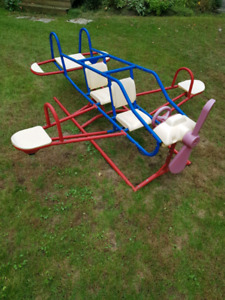 Airplane and helicopter teeter totter