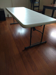 "6ft Height Adjustable Folding Table (25""-35"")"